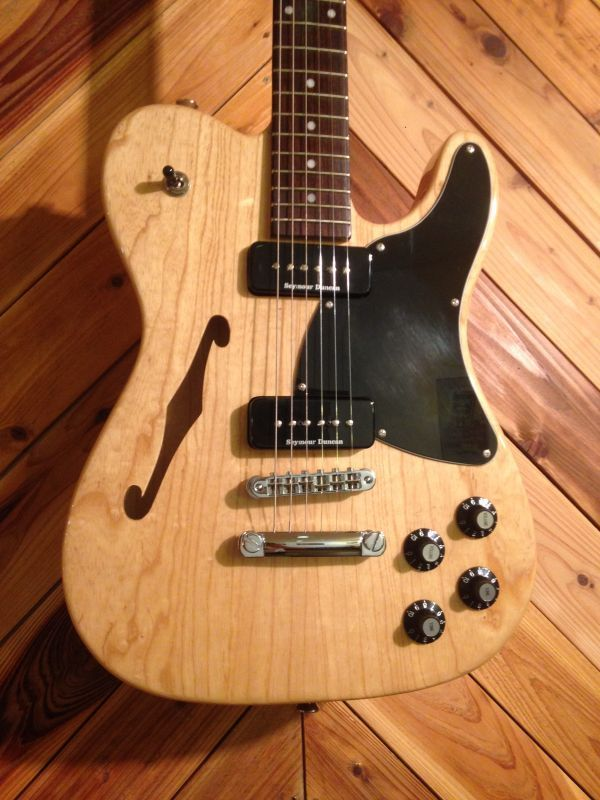 fender jim adkins ja 90 telecaster thinline natural katana guitars. Black Bedroom Furniture Sets. Home Design Ideas